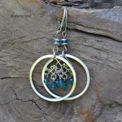 długie kolczyki,surowe srebro, - Kolczyki - Biżuteria