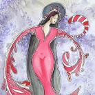 Ilustracje, rysunki, fotografia anioł,anioły,kobieta,malarstwo,ilustracja,wnętrze,