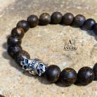 Dla mężczyzn surowa biżuteria męska,bransoleta z bronzytu
