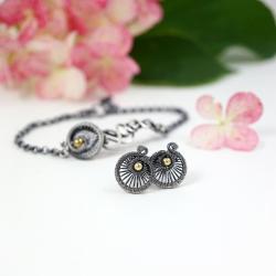 srebrny komplet biżuterii,prezent dla niej - Komplety - Biżuteria