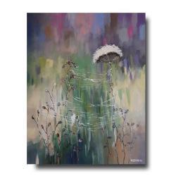 obraz,łąka,pajęczyna - Obrazy - Wyposażenie wnętrz