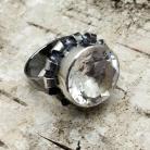 Pierścionki pieerścionek kryształ górski,z kryształem,srebro