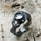 Pierścionki kwarc,blask,srebrny,minerał,przejrzysty,kryształ,