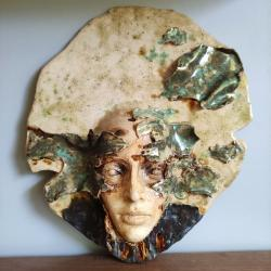 Jesień,maska,dekoracja,prezent,ceramika - Ceramika i szkło - Wyposażenie wnętrz