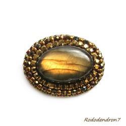 klasyczna,elegancka,stonowana,błyszcząca - Broszki - Biżuteria