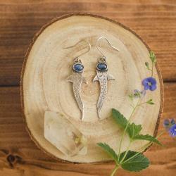 wiszące kolczyki,rekin,długie kolczyki - Kolczyki - Biżuteria
