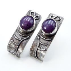 kolczyki na sztyftach z rubinem - Kolczyki - Biżuteria