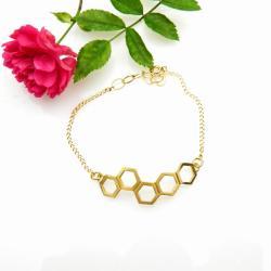 bransoletka,srebrna,prezent,dla niej,pozłacana - Bransoletki - Biżuteria