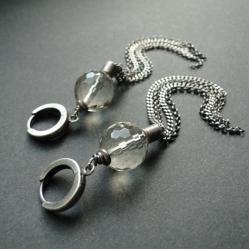 srebro,kwarc lemon,chwosty,długie - Kolczyki - Biżuteria