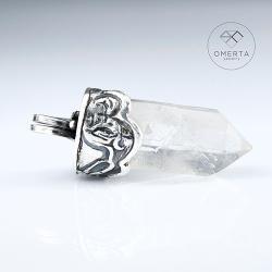 omerta,kryształ górski,amulet, - Wisiory - Biżuteria