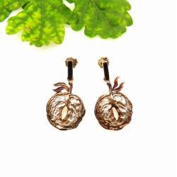 kolczyki,biżuteria,srebrna,prezent,jabłuszka - Kolczyki - Biżuteria