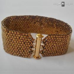 Bransoletka Złoty Pasek -zapięcie na magnes - Bransoletki - Biżuteria