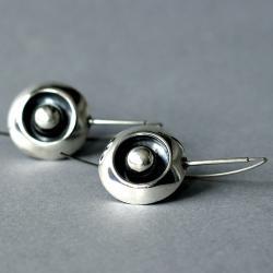 kolczyki wiszące z polerowanego srebra - Kolczyki - Biżuteria