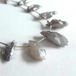 minimalizm,surowe formy,drapiezna kolia, - Naszyjniki - Biżuteria