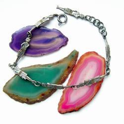 bransoletka,srebrna,prezent,dla niej,biżuteria - Bransoletki - Biżuteria