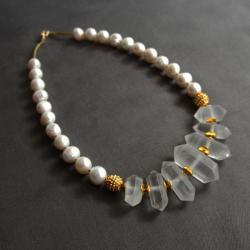 elegancka,klasyka,klasa,klasyczne perły - Naszyjniki - Biżuteria