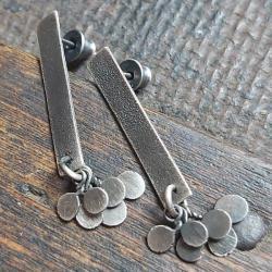 kolczyki na sztyfty,kolczyki srebrne - Kolczyki - Biżuteria