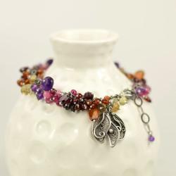 bransoletka,kolorowa,filigran,elegancka,misterna - Bransoletki - Biżuteria