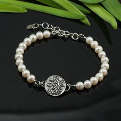 romantyczmna,delikatna,z perłami,wiosenna - Bransoletki - Biżuteria