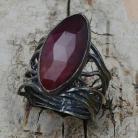 Wisiory rubin,blask,bordowy,srebrny,surowy,retro,prezent
