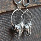 Kolczyki kolczyki wiszące,kolczyki koła,elementy srebrne
