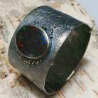 Bransoletki matrix,opal,australijski,ogromny,srebrna,kosmos