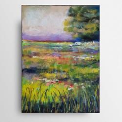 pejzaż,pastele,drzewo,kwiaty - Obrazy - Wyposażenie wnętrz