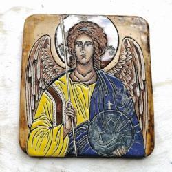 Beata Kmieć,ikona ceramiczna,Anioł,Archanioł - Ceramika i szkło - Wyposażenie wnętrz
