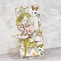 ślub,kartka,życzenia,kwiaty,ślubna - Kartki okolicznościowe - Akcesoria