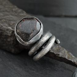 srebro,surowy - Pierścionki - Biżuteria