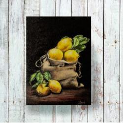 płótno,akryl,realizm,owoce,świeże,malarstwo - Obrazy - Wyposażenie wnętrz