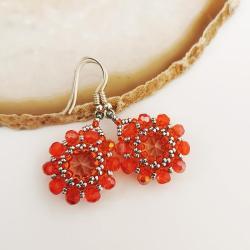 Kolczyki Kryształowe Kwiatki Prociosa -Srebro - Kolczyki - Biżuteria