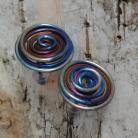 Kolczyki tytan,lekkie,tęczowa,ultra,blask,rainbow,tytanowa