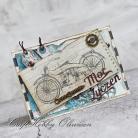 Kartki okolicznościowe męska kartka dla motocyklisty,steampunk
