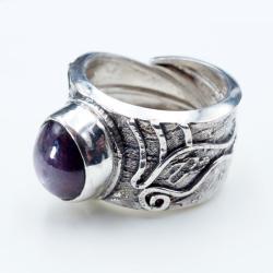 regulowany pierścionek z rubinem gwiaździstym - Pierścionki - Biżuteria