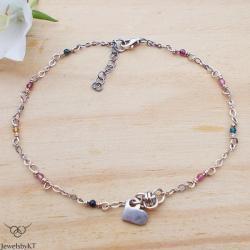 bransoletka na nogę,kolorowa biżuteria,JewelsbyKT - Bransoletki - Biżuteria