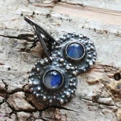 ksieżycowy,księzyc,srebrne,szare,błękitne,subtelne - Kolczyki - Biżuteria