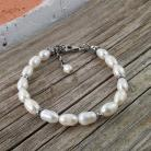 Bransoletki bransoletka z perłami,biżuteria z perłami