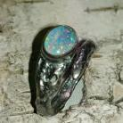 Pierścionki opal,australijski,srebrny,blask,srebro,regulowany