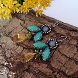 kolorowe,letnie,radosne,dziewczęce - Kolczyki - Biżuteria