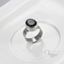 pierścionek z onyksem,czarny pierścionek - Pierścionki - Biżuteria