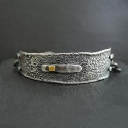 srebro,surowy - Bransoletki - Biżuteria