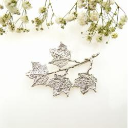 klon,broszka,srebrna,prezent,dla niej, - Broszki - Biżuteria