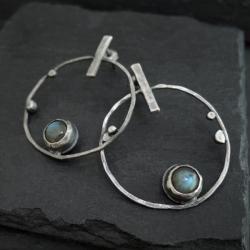 srebro,surowy - Kolczyki - Biżuteria
