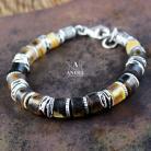 Bransoletki bransoleta z surowych bursztynów,biżuteria męska