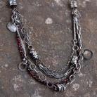 Naszyjniki naszyjnik ze srebra i granatów