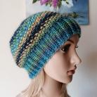 Inne czapka na drutach,rękodzieło,klasyczna czapka