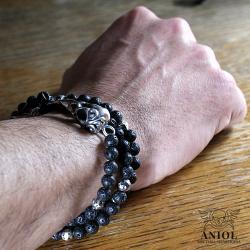 męska biżuteria z czaszką ptaka,surowa bransoleta - Dla mężczyzn - Biżuteria