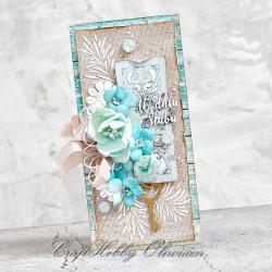 ślub,kartka,życzenia,kwiaty,ślubna,rustykalna - Kartki okolicznościowe - Akcesoria