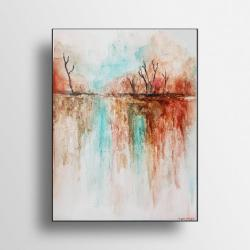 obraz na ściane,rudości,pomarańcze,akwarela - Obrazy - Wyposażenie wnętrz